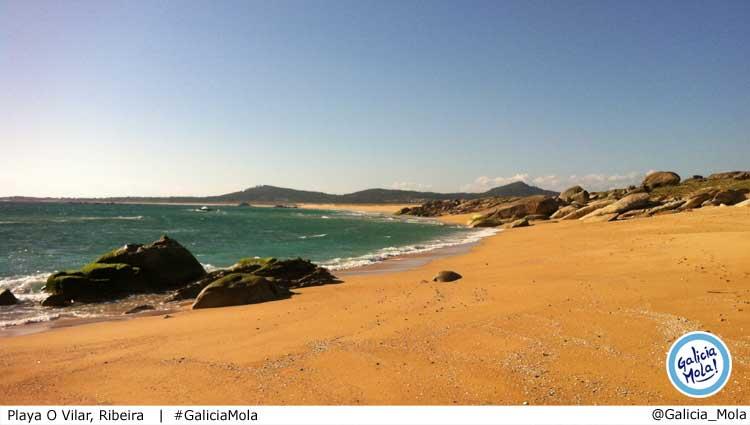 Playa O Vilar en Ribeira