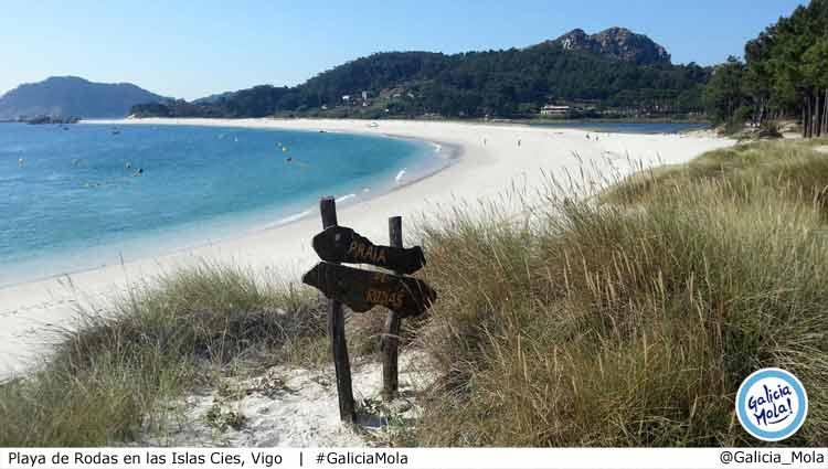 Playa de Rodas en las Islas Cíes Galicia