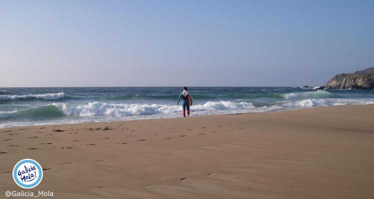 Playa a Frouxeira en Valdoviño