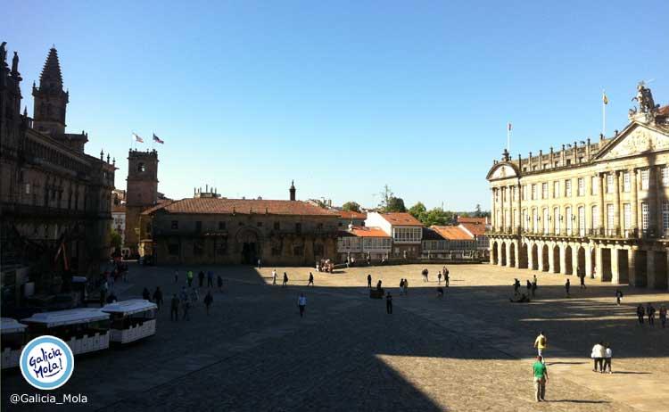 plaza obradoiro vista hostal reis catolicos