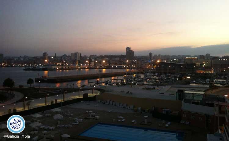 Vistas de A Coruña desde Hotel Finisterre